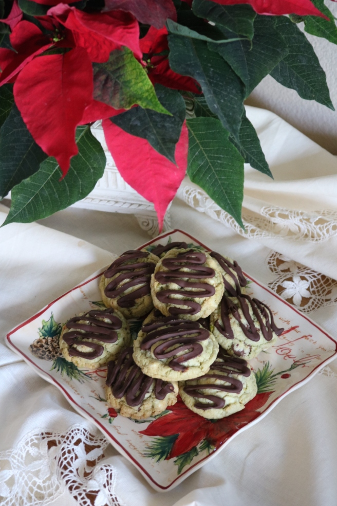 pistachio-cookies-and-pointsettia