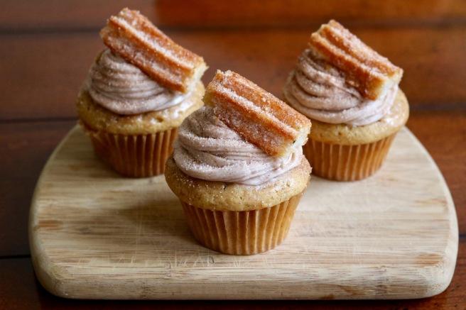 three-churro-cupcakes