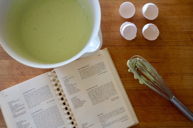 Pistachio Rum Cake Mix and Book