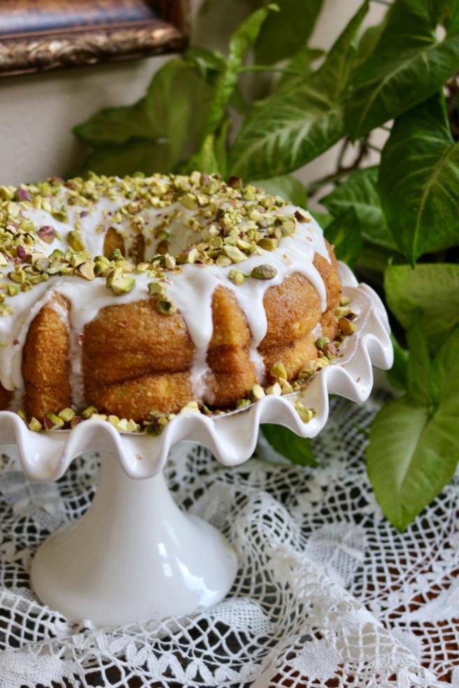 Pistachio Rum Cake Side View